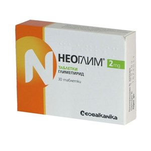 Снимка на Неоглим таблетки 2 мг х 30