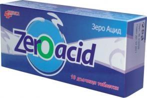 Снимка на Зеро ацид дъвчащи таблетки х 10